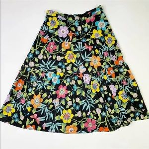 J Crew Tawna Pavilli Floral Print Midi Skirt Sz 10